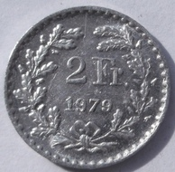2 Francs 1979 Swiss цена - 1$